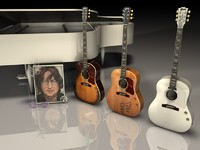 3d acoustic gibson john lennon model