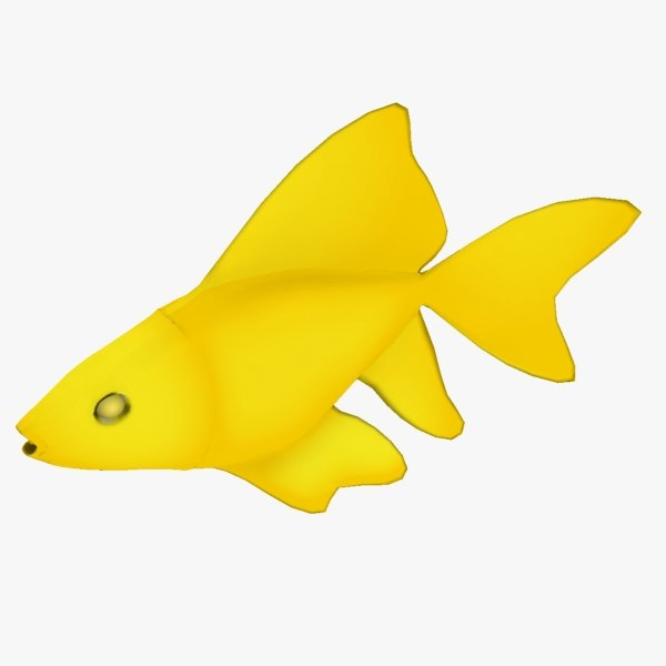 free golden fish 3d model