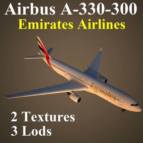 airbus uae 3d max