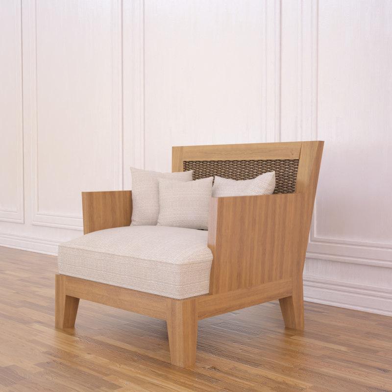 3d model hepata armchair