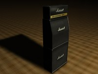 marshall stack amp 3d model