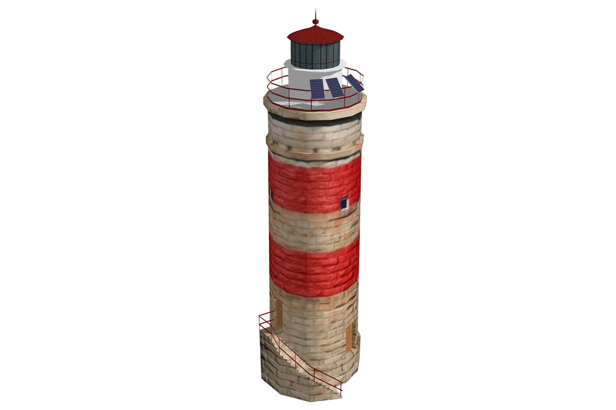 3ds max cape moreton lighthouse