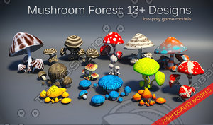 mushroom forest pack 3d max