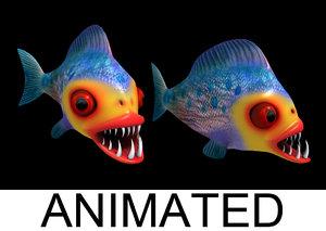 pirania sail animation 3d max