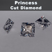 3d princess cut diamond materials