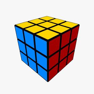 rubiks cube s 3d model