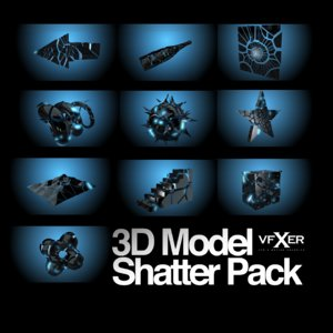 shatter pack 3d obj