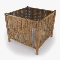 3dsmax vimini wicker coffee table
