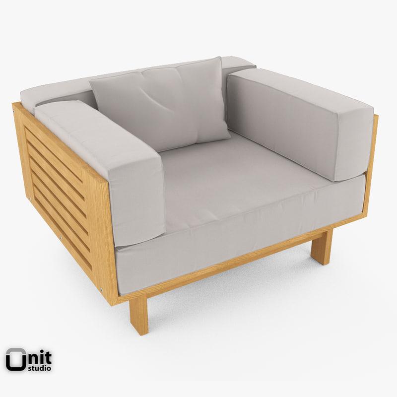 3d model of skargaarden falsterbo outdoor armchair