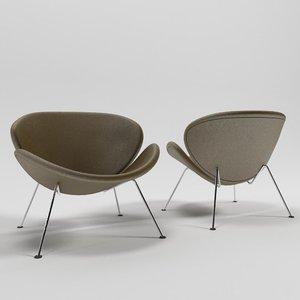 3d model slice chair