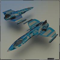 ship gunship 3d model