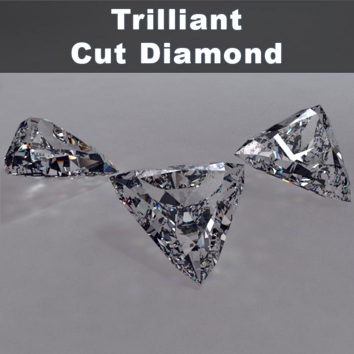 trilliant cut diamonds 3d max