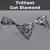 trilliant cut diamonds 3d max