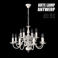 chandelier arte lamp antwerp 3d model