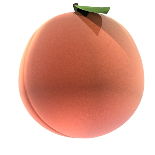 3d peach loader model