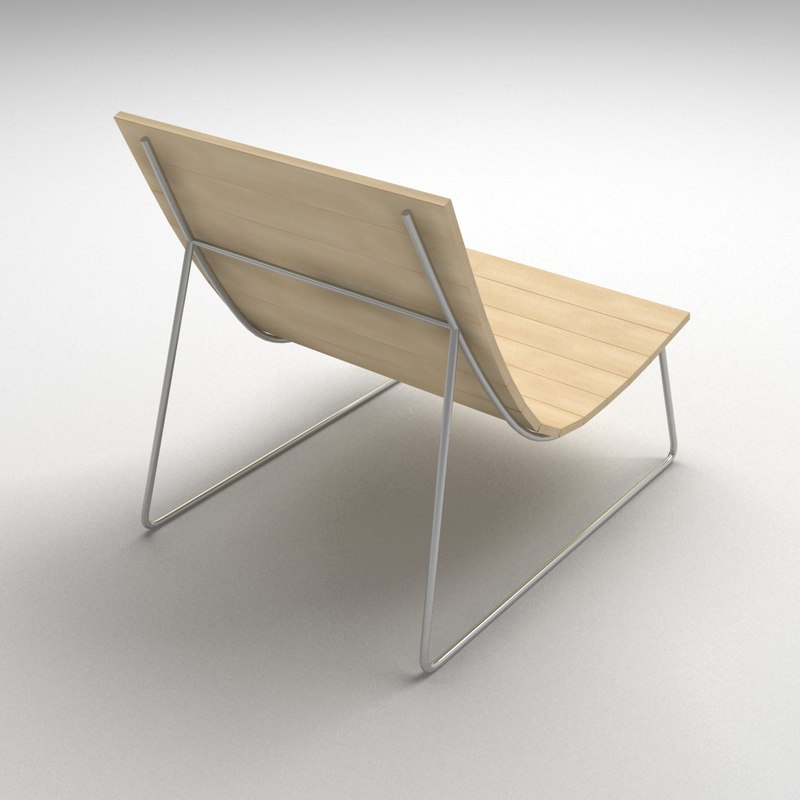chair lounge - 3d obj