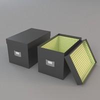 3d deco boxes model