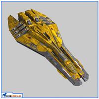 3d starship escort v2
