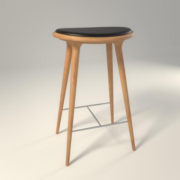 3d mater-design stool model