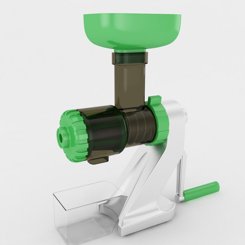 3d manual hand juicer model