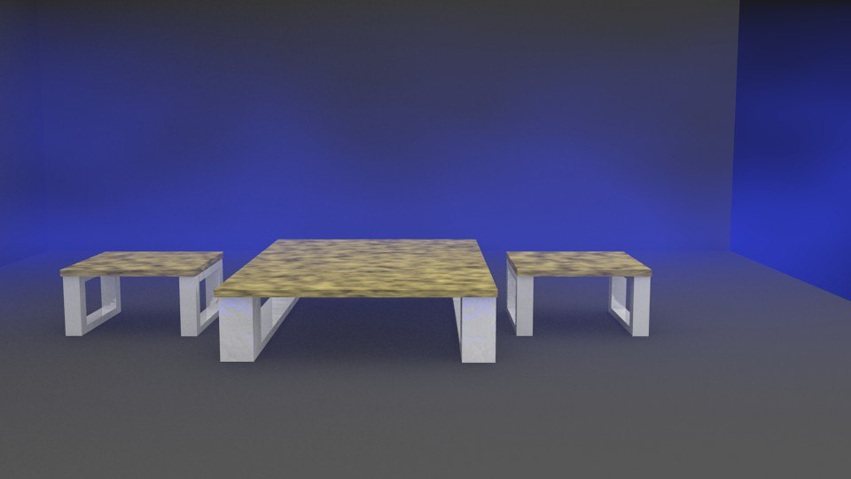 3d model coffee table set