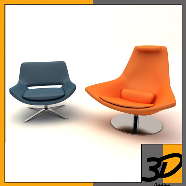 3d metropolitan armchair model