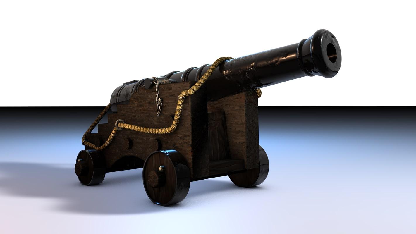 c4d ship cannon