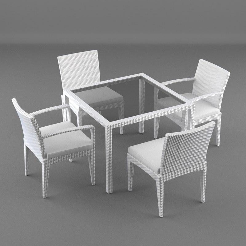 3d model lounge furniture table panama