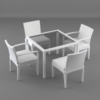 3d model lounge furniture table panama