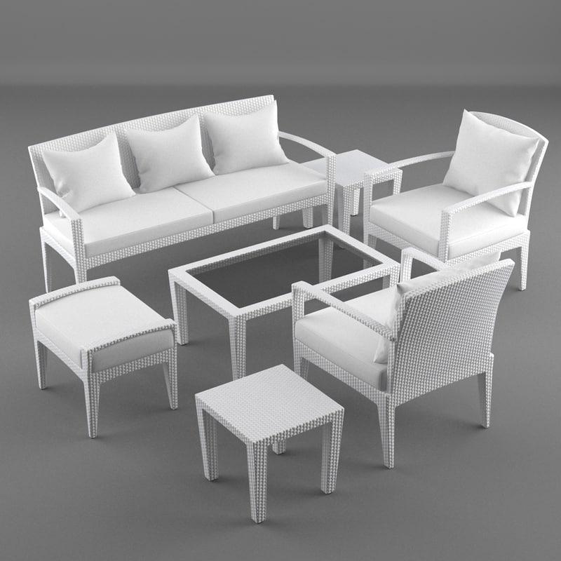 lounge furniture panama 3d model
