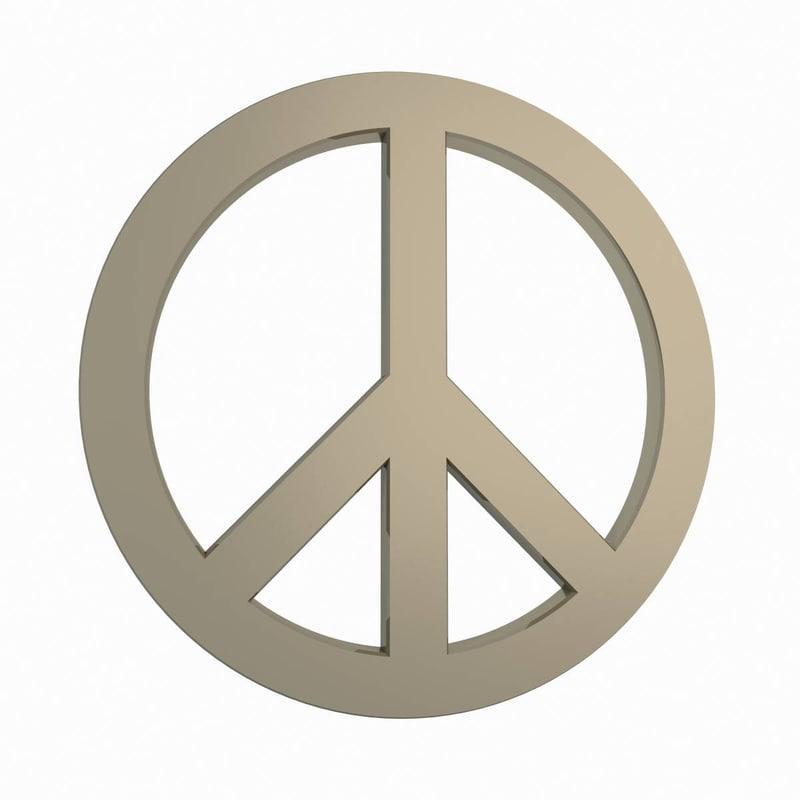 3d peace symbol