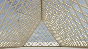 pyramid hall 3d model