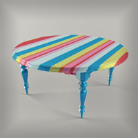 striped table 3d max