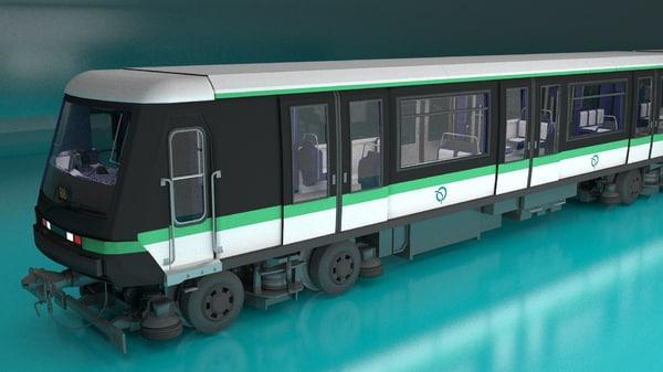 paris subway train obj