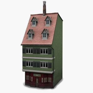3dsmax house facade b