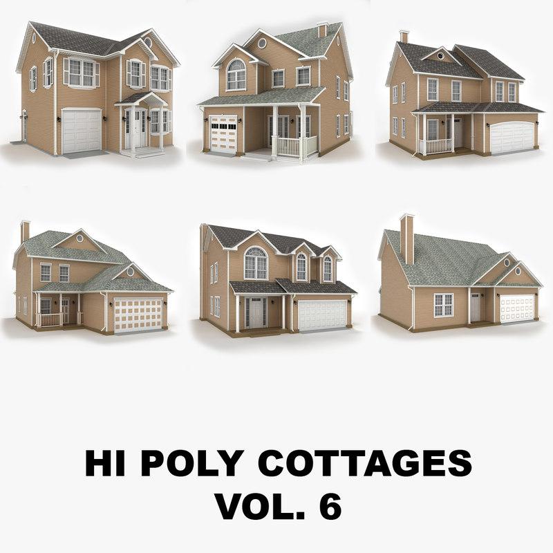 hi-poly cottages vol 6 3d x
