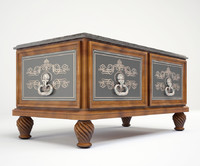 3d model decorated cassone chest