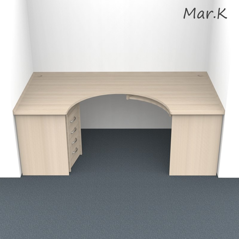computer table niche 3d model