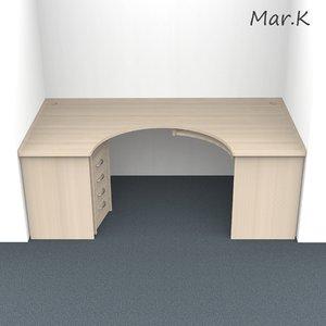 computer table niche 3d model