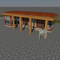 3ds max small motel