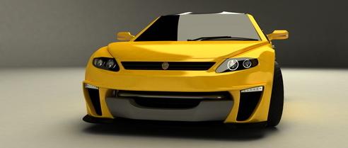 3d model of concept car