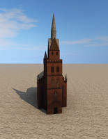 3d church ready model