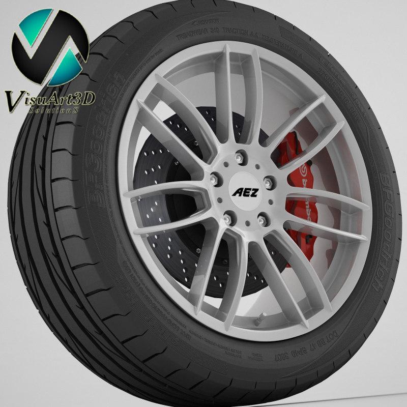 wheel aez tacana 3d model