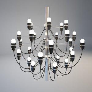 3d model artpole leuchter