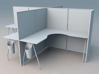 desk b 3d 3ds