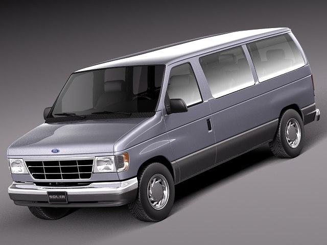 usa van passenger 2000 3d model