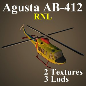 agusta rnl helicopter 3d max