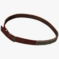 leather belt 6 3d model
