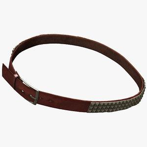 leather belt 6 3d model