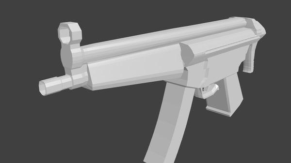 3d model mp5 gun